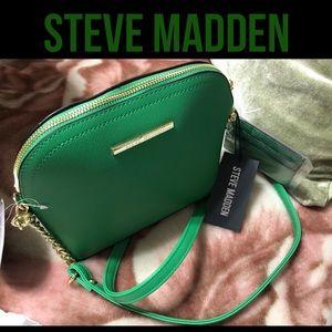 🌴STEVE MADDEN KELLY GREEN CROSSBODY DOME Bag NWT